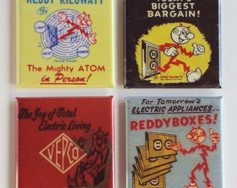 Reddy Kilowatt Fridge Magnet Set
