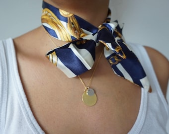 Blue and Gold Neck Scarf/Choker Scarf