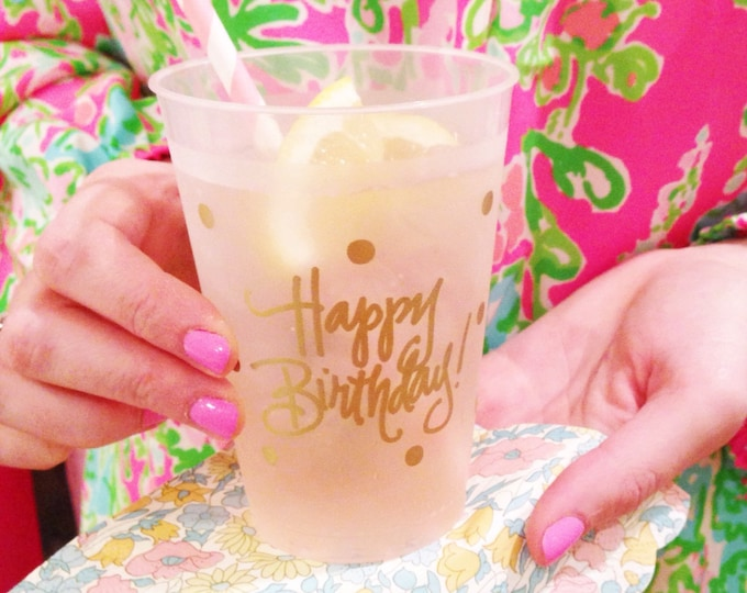 Featured listing image: Birthday Cups (reusable) - Qty 12