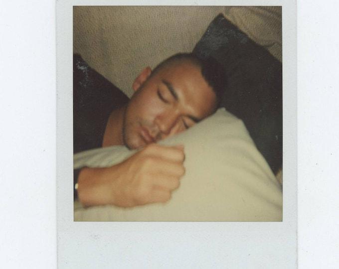 Vintage Polaroid SX-70 Snapshot Photo: Sleep [82651]