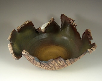 """Pottery Centerpiece – Ceramic Sculpture - """"Night Forest""""   – Handmade Ceramic Art – Wheel Thrown Stoneware  – Unique Pottery - Ready to Ship"""