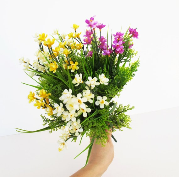 Artificial flowers bouquet 4 silk spring flowers branches mightylinksfo