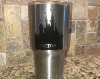 Disney - Cinderella Castle Home - YETI Decal