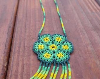 Peyote Huichol necklace