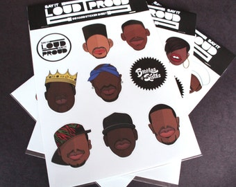Hip Hop Sticker Sheet ( Golden Era Set 1)