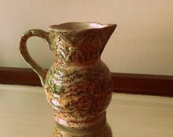 1940's small Roddy ware Staffordshire Speckled  mottled glaze ceramic Jug