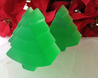 Christmas Tree Soap Favors - Set of 10 - Christmas Soap Favors - Holiday Soap - Christmas Guest Soap - Christmas Forest Soap
