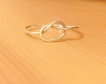 Simple knot ring, tie knot ring, eternity ring, forever ring, bridesmaids ring, friend rings, minimalist ring, dainty ring, stacking rings