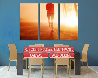Running girl sports activity run Large Canvas Wall Decoration Wall Art Split art Print Canvas Art Giclee Print Gallery Wrapped Canvas