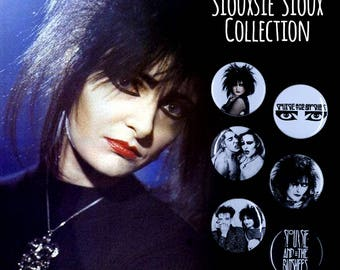 "Siouxsie & the Banshees 1.5"" Button Set - Goth, Post Punk, New Wave"