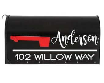 """Personalized Mailbox Decal """"The Danielle"""" , 23 colors to choose from! mailbox lettering, mailbox address, address numbers, mailbox sticker"""
