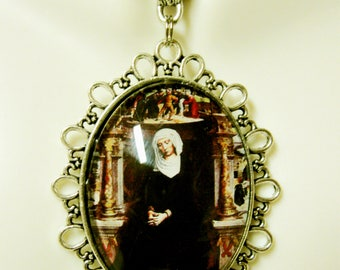 Our Lady of the Seven Sorrows pendant and chain - AP09-285