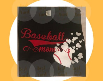 Deluxe Baseball Mom With Hearts svg, png, jpg, gsp cut file