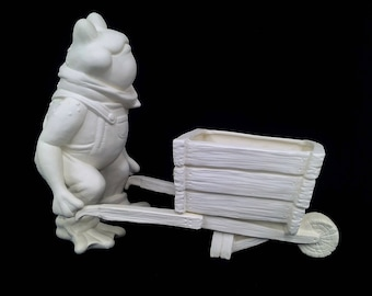 Frog with Wheelbarrow
