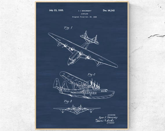 Seaplane patent poster vintage airplane airplane blueprint seaplane patent poster vintage airplane airplane blueprint airplane art pilot gift aircraft decor airplane patent poster mens wall art malvernweather Gallery