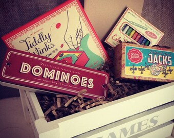 Childrens Vintage Style Games Crate