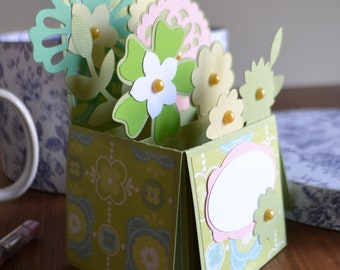 Floral Box Card, Birthday card, Mother's Day card, Anniversary card