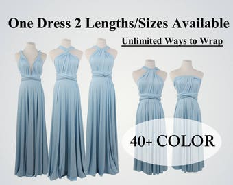Baby Blue bridesmaid dress long infinity dress short convertible bridesmaid dress infinity dress long maxi dress wedding dress wrap dress