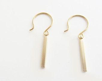 Gold bar earrings / bar earrings/ gold earrings/bar earrings gold/gold filled earrings/graduation gift