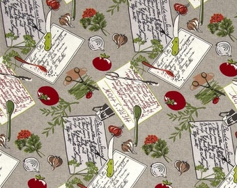SALE! Coleslaw Fabrics by Wilmington Prints Kitichen Recipes #541
