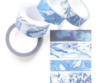 Primordial Blue Washi Sample