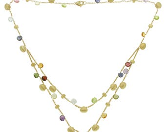 Marco Bicego 18k Yellow Gold Mixed Stone Paradise Necklace