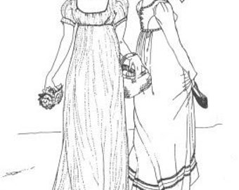 SS100 - 1804 - 1812 Regency Gown Sewing Pattern by Sense & Sensibility