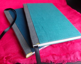 Travel Journal With Ribbon Bookmark, set of 2