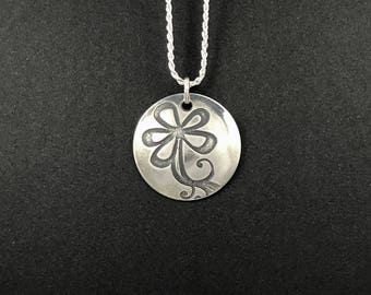 Sterling Silver Pendant with Sterling Silver Necklace