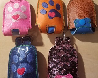 Dog poop bag holder, Dog bag dispenser, key chain dog poop dispenser holder, poop bag holder, I can personalize as well, key fob