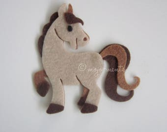Felt Horse Die Cuts - Pack of 5 - Assembled and Ready To add Straight On To Your Projects