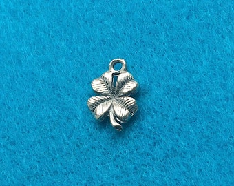 Four Leaf Clover Charm Antique Silver Plated - TWO (2) Charms - Jewelry Making Beading Supplies