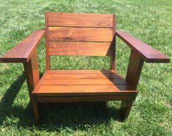 Black Walnut Modern Patio Chair.