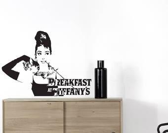 wall stickers Audrey Hepburn breakfast at tiffany's