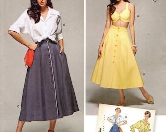 Simplicité 1166 réédition rétro des années 1950 l'été Bra Top jupe et chemisier tailles 16-24 © 2015 espagnol / anglais