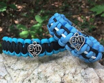 EMT Paracord Bracelet, EMT medical themed,
