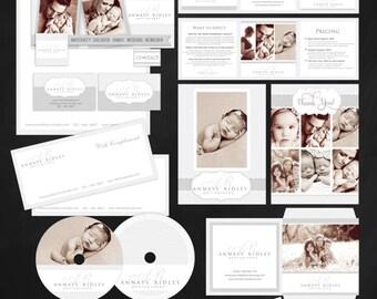 22 PIECE Marketing Set / Photography Marketing Set / Branding Templates, Minimalist Simple Elegant - editable layered  PSD Instant Download