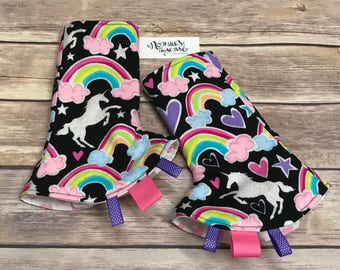 DEAR DIARY Unicorn Drool Pads. MJ Heaven Suck Pads. Unicorns. Tula Accessories. Lillebaby, Kinderpack, Ergo, Beco, Chimparoo, Bjorn, Boba,
