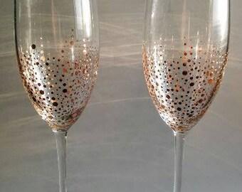 SIX Rose Gold Champagne Glasses