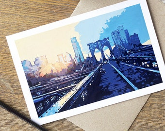 Cards: Brooklyn Bridge Sunset (Set of 5)
