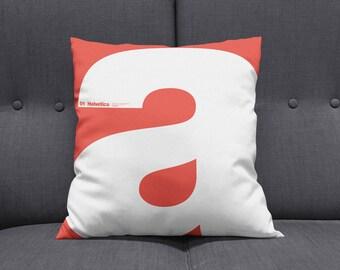 Modern Letter A Helvetica Decorative-Throw Pillow