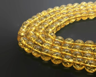6mm Natural Citrine Beads 61 Beads 6mm Citrine 6mm Citrine Beads Yellow Gemstone Citrine Stone 6mm Yellow Beads 6mm Natural Citrine 6mm Bead