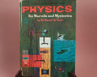 Physics, Book, Beginning, Learn About Book, Dr. Posin, Big Bang Theory Gift, Whitman Publishing, Easy Physics, Science Reference Book