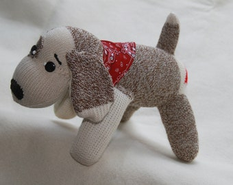 Handcrafted Sock Monkey Puppy