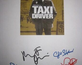 Taxi Driver Signed Film Movie Script Screenplay X6 Robert De Nero Cybill Shepherd Jodie Foster Peter Boyle Harvey Keitel Martin Scorsese
