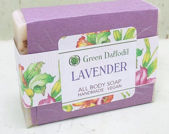 Lavender Bar of Soap - Green Daffodil