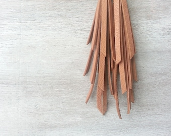 Brown Fringe Earrings Fringe leather earrings
