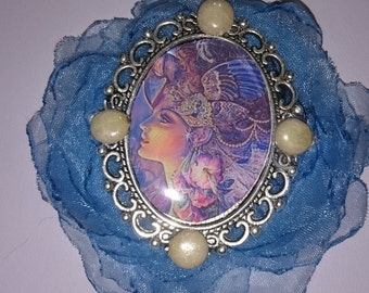 bohemian necklace Iris is the sign of Aries and spring, flower fairy