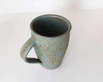 ceramic mug, green mug, coffee mug, coffee cup, tea cup, handmade ceramic mug, rustic mug