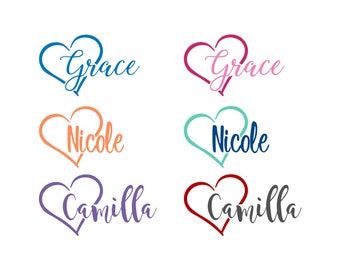 Heart Decal | Name Decal | Vinyl Heart | Coffee Cup Decal | Cup Decal | Vinyl Cup | Vinyl Coffee Cup | Vinyl Love | Vinyl Decal | Heart